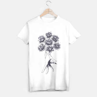 Thumbnail image of Hand with lotuses T-shirt regular, Live Heroes