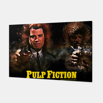 Miniatur Pulp Fiction - Alternative Movie Poster Canvas, Live Heroes