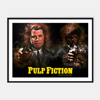 Miniatur Pulp Fiction - Alternative Movie Poster Framed poster, Live Heroes