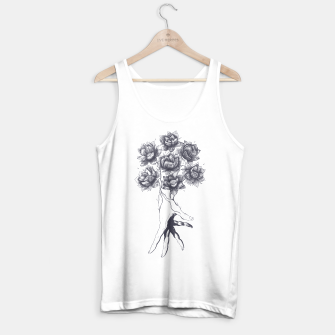 Thumbnail image of Hand with lotuses Tank Top regular, Live Heroes