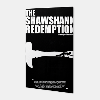 Thumbnail image of The Shawshank Redemption - A Minimal Movie Poster. A Film by Frank Darabont. Canvas, Live Heroes