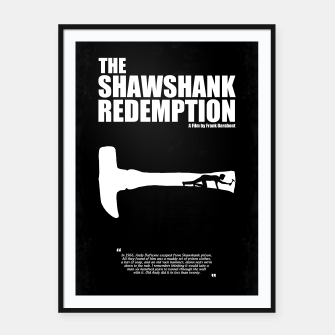 Thumbnail image of The Shawshank Redemption - A Minimal Movie Poster. A Film by Frank Darabont. Framed poster, Live Heroes