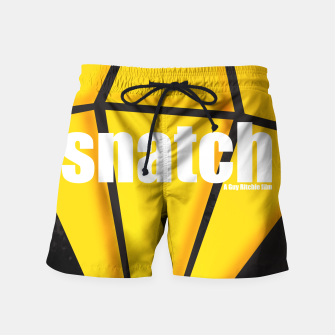 Thumbnail image of Snatch. Minimal Movie Poster - A Guy Ritchie Film. Swim Shorts, Live Heroes