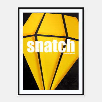 Thumbnail image of Snatch. Minimal Movie Poster - A Guy Ritchie Film. Framed poster, Live Heroes