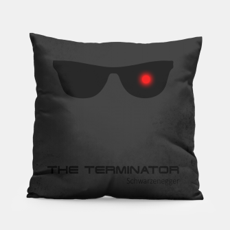 Thumbnail image of Terminator - minimal movie poster Pillow, Live Heroes