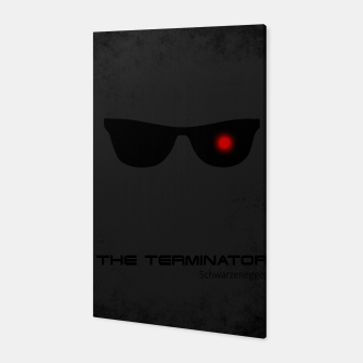 Thumbnail image of Terminator - minimal movie poster Canvas, Live Heroes
