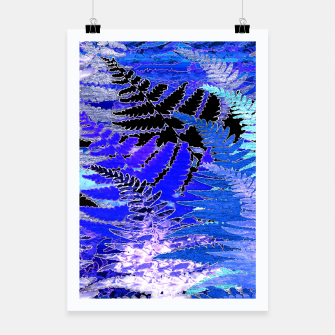 Ferns, Moonlight Blue Poster thumbnail image