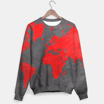 world map red black Bluza obraz miniatury