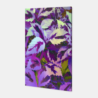 Thumbnail image of More Lovely Leaves, Purple Shades Canvas, Live Heroes
