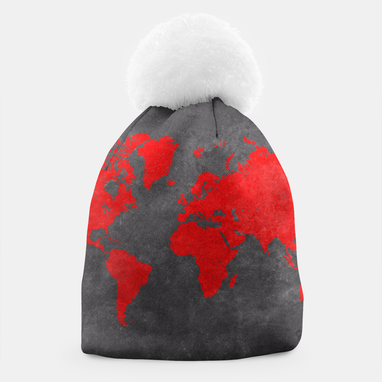world map beanie