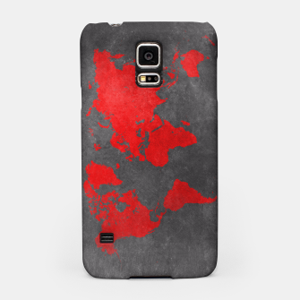 world map red black Obudowa na Samsunga obraz miniatury