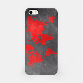 world map red black Obudowa iPhone obraz miniatury