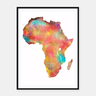 Thumbnail image of Africa map Plakaty w ramie , Live Heroes