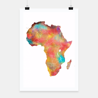 Thumbnail image of Africa map Plakat, Live Heroes