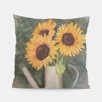 Thumbnail image of HAPPY SUNFLOWERS Pillow, Live Heroes