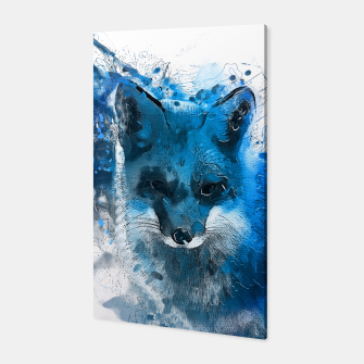 Thumbnail image of blue fox Canvas, Live Heroes