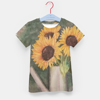 Thumbnail image of HAPPY SUNFLOWERS Kid's T-shirt, Live Heroes