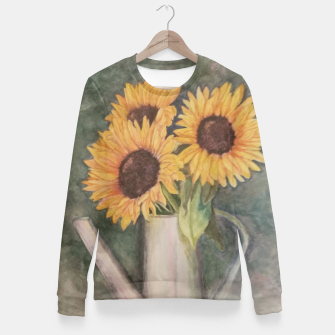 Thumbnail image of HAPPY SUNFLOWERS Fitted Waist Sweater, Live Heroes