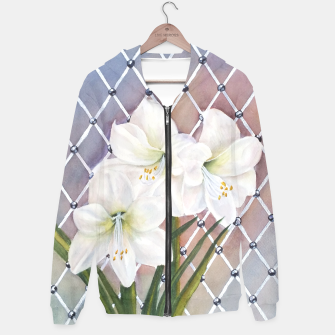 Thumbnail image of STUNNING WHITE AMARYLLIS BOUQUET Hoodie, Live Heroes