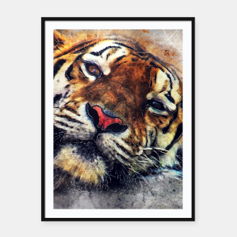 Thumbnail image of tiger face Plakaty w ramie , Live Heroes