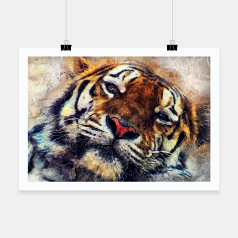 Thumbnail image of tiger face Plakat, Live Heroes