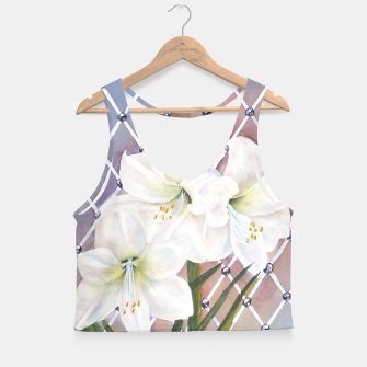 Thumbnail image of STUNNING WHITE AMARYLLIS BOUQUET Crop Top, Live Heroes