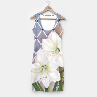 Thumbnail image of STUNNING WHITE AMARYLLIS BOUQUET Simple Dress, Live Heroes