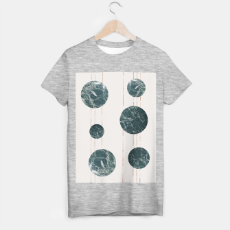 Thumbnail image of Marble Circles with Golden Stripes T-shirt regular, Live Heroes