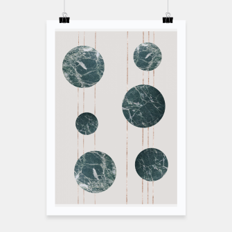 Thumbnail image of Marble Circles with Golden Stripes Poster, Live Heroes