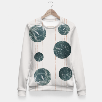 Thumbnail image of Marble Circle with Golden Stripes Fitted Waist Sweater, Live Heroes