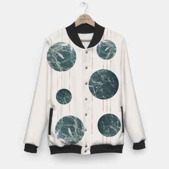 Thumbnail image of Marble Circle with Golden Stripes Baseball Jacket, Live Heroes