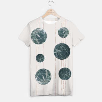 Thumbnail image of Marble Circle with Golden Stripes T-shirt, Live Heroes