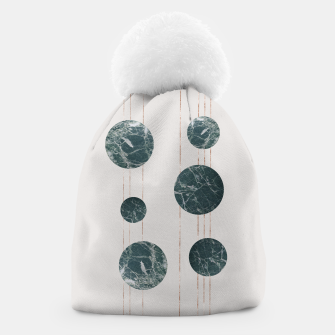 Thumbnail image of Marble Circle with Golden Stripes Beanie, Live Heroes