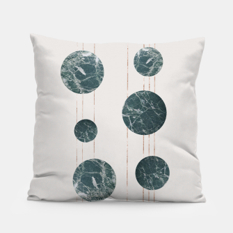 Thumbnail image of Marble Circle with Golden Stripes Pillow, Live Heroes