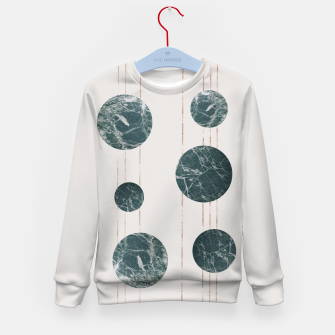Thumbnail image of Marble Circle with Golden Stripes Kid's Sweater, Live Heroes