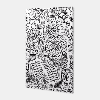 Thumbnail image of Doodle floral Canvas, Live Heroes
