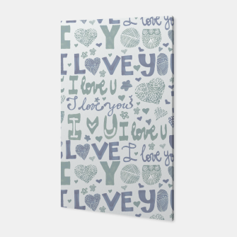 Thumbnail image of I love you blue Canvas, Live Heroes