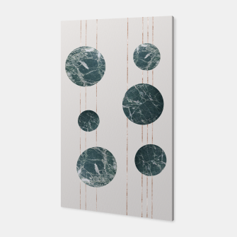 Thumbnail image of Marble Circle with Golden Stripes Canvas, Live Heroes