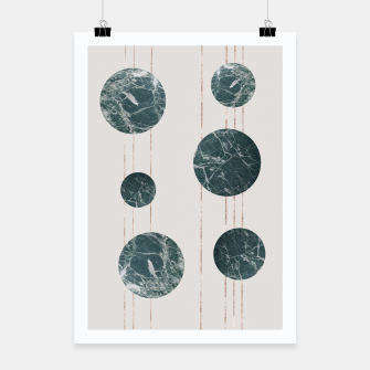 Thumbnail image of Marble Circle with Golden Stripes Poster, Live Heroes