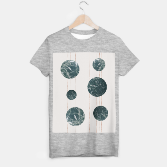 Thumbnail image of Marble Circle with Golden Stripes T-shirt regular, Live Heroes
