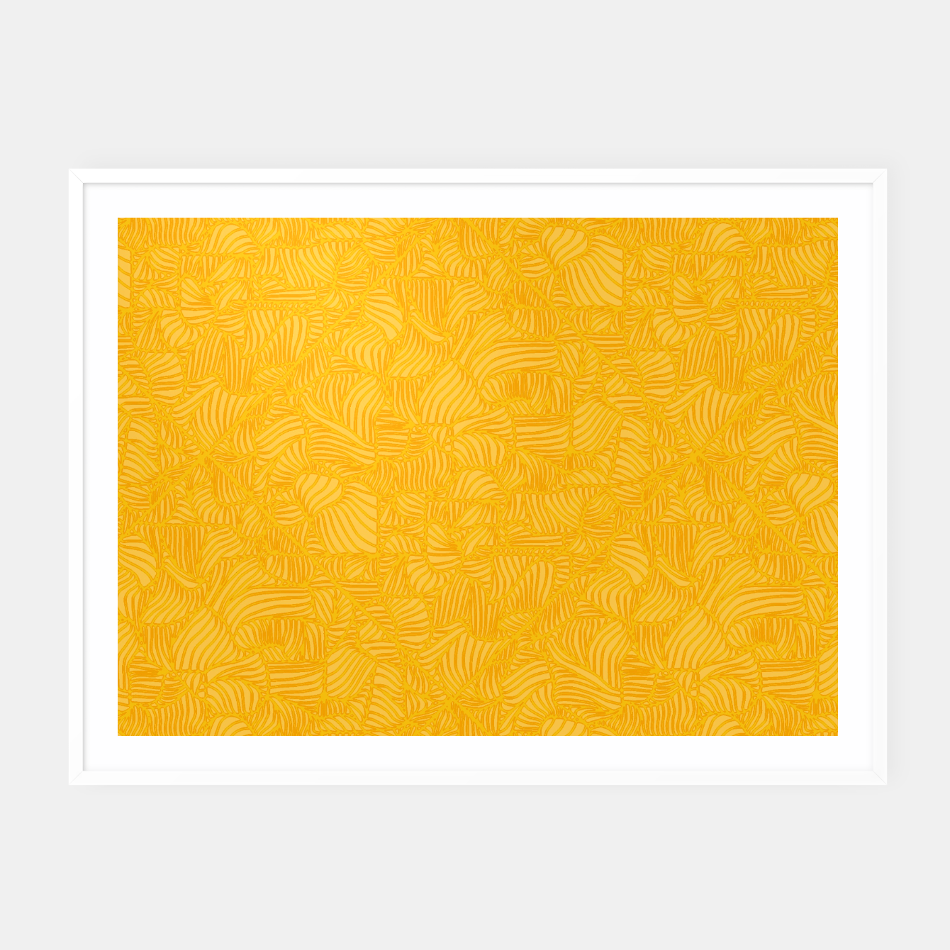 Image of yellow Framed poster - Live Heroes
