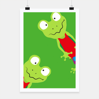 Thumbnail image of squinting Frog-Pattern Poster, Live Heroes