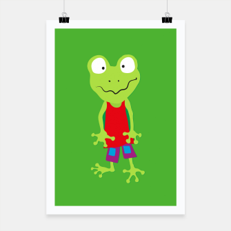 Thumbnail image of squinting Frog Poster, Live Heroes
