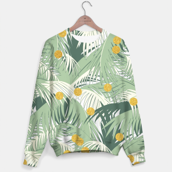 Thumbnail image of Palm and gold Sweater, Live Heroes