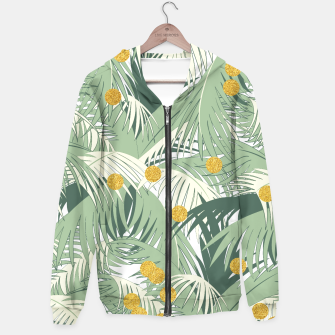 Thumbnail image of Palm and gold Hoodie, Live Heroes