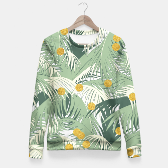 Thumbnail image of Palm and gold Fitted Waist Sweater, Live Heroes