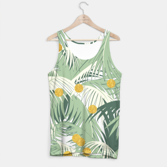 Thumbnail image of Palm and gold Tank Top, Live Heroes