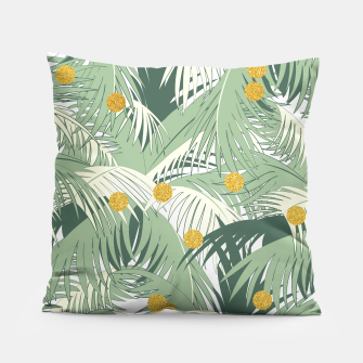 Palm and gold Pillow thumbnail image