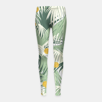 Palm and gold Girl's Leggings thumbnail image