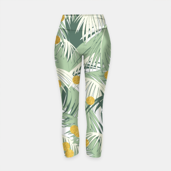 Thumbnail image of Palm and gold Yoga Pants, Live Heroes